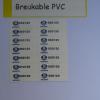 Breakable PVC Sticker