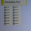 Breakable PVC Sticker