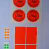 Fluorescent Red Orange and Green sticker