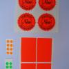 Fluorescent Red Orange and Green sticker