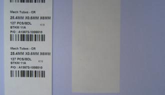 Tyvex Paper Sticker