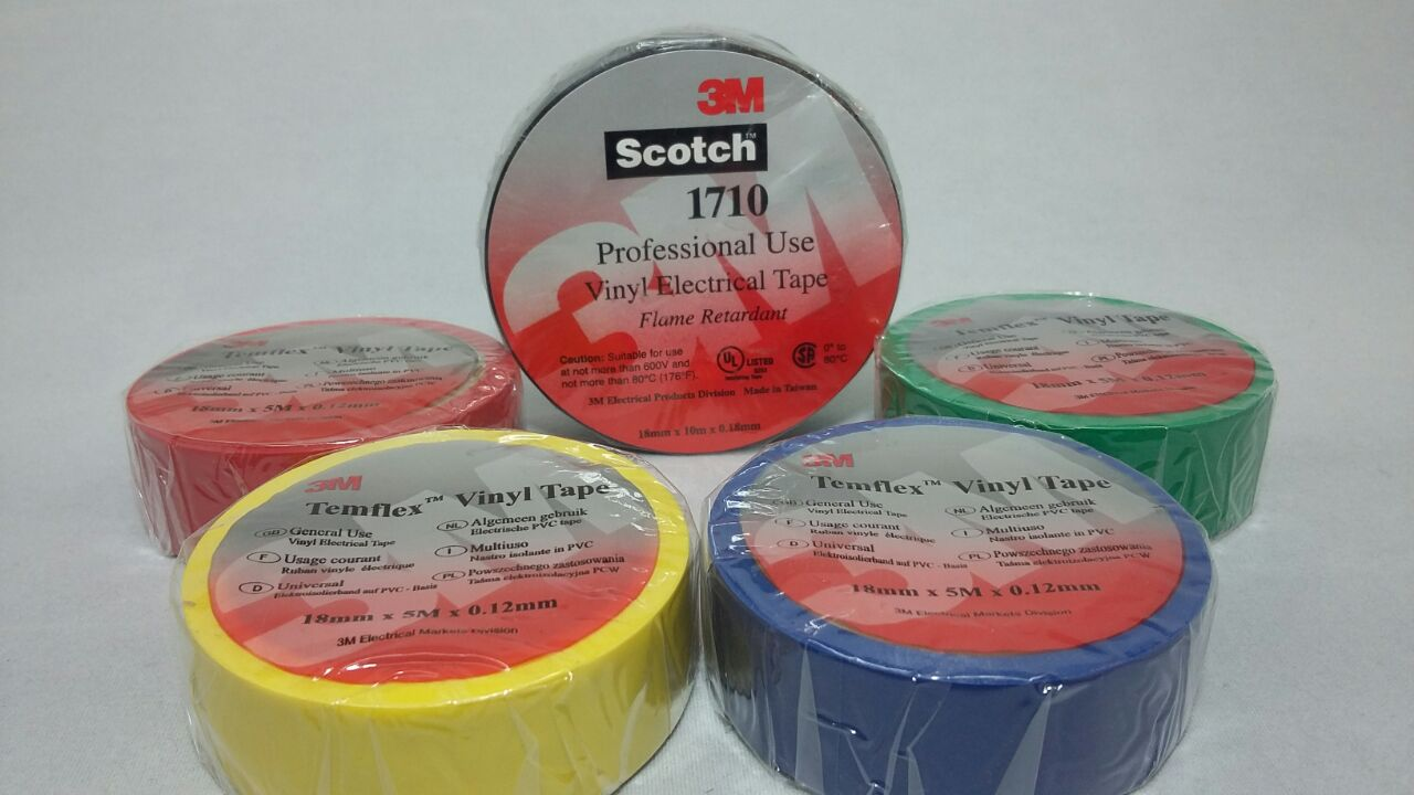 3M Temflex Vinyl Electrical Tape 1710 Malaysia Supplier Distributor